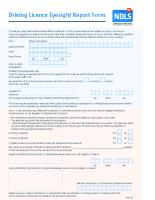 Driving License Eyesight Report