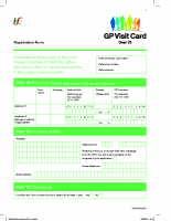 Over 70s GP Visit Card