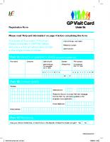 Under 6s GP Visit Card